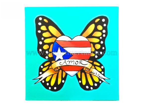 Amor Puerto Rico art greeting card