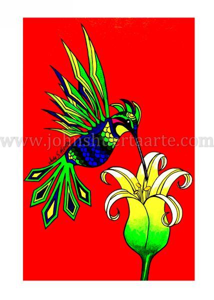 Alebrijes Hummingbird art greeting cards