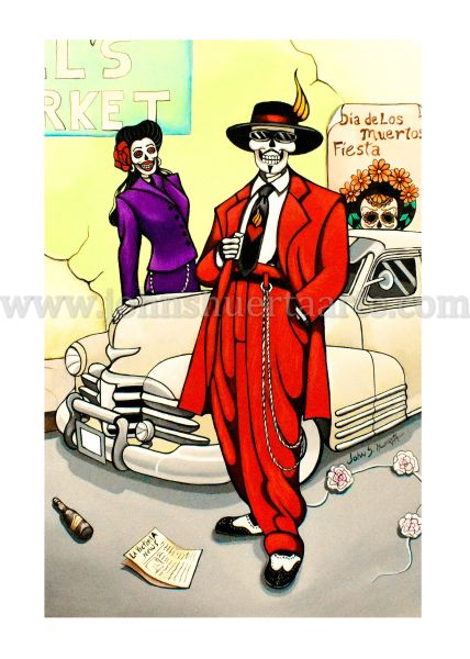 Pochuco y Pochuca art greeting card