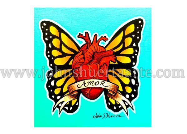 Amor heart art greeting card