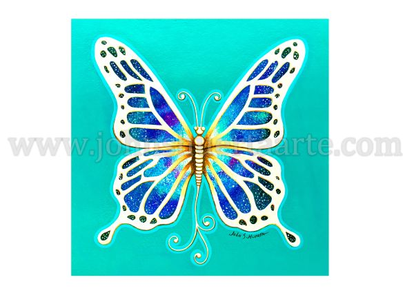Butterfly Universe art greeting card