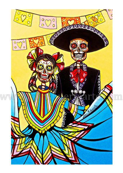 Dia de la Fiesta art greeting card