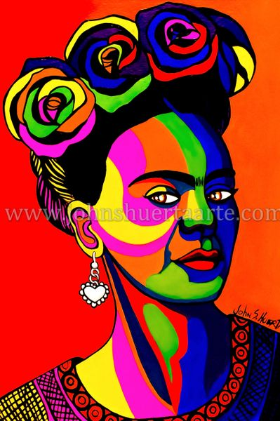 Frida pop art II art greeting card