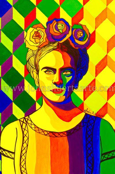 Frida pop art III art greeting card
