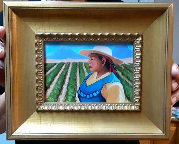 Farm worker acrylic on canvas