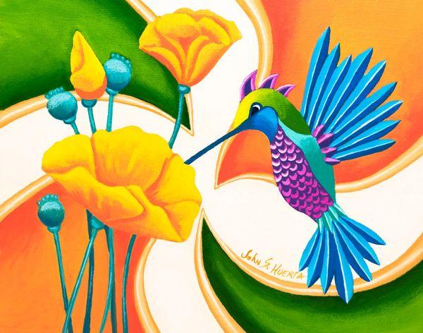 Poppy and Hummingbird