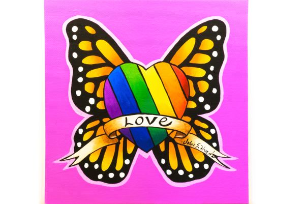 Rainbow pride love Butterfly