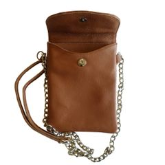 Leather Cell Phone Purse - Brown