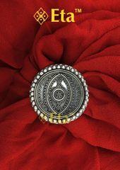 Silver fine rava ring