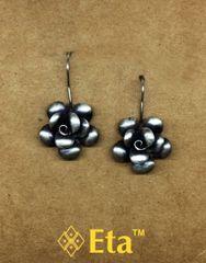 Silver rose earring