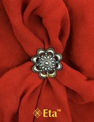 Silver tribal floral ring