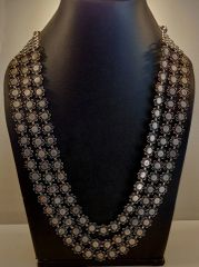 Silver tribal phool necklace
