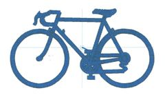 Racing Bike Embroidery Design