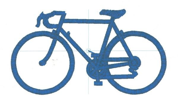 Racing Bike Embroidery Design