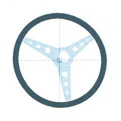 Vintage Steering Wheel Embroidery Design