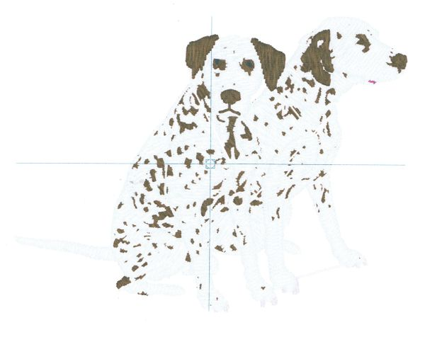 Dalmations Embroidery Design