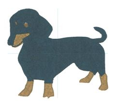 Daschund Embroidery Design