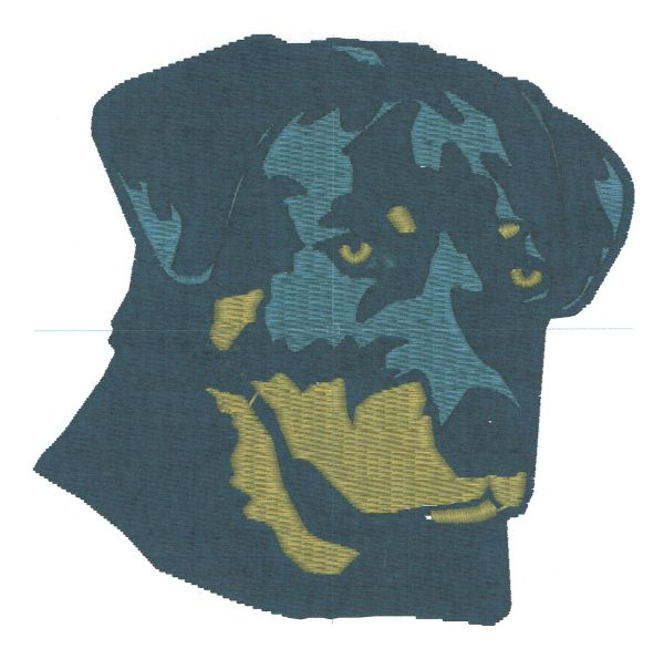 Rottweiler Embroidery Design