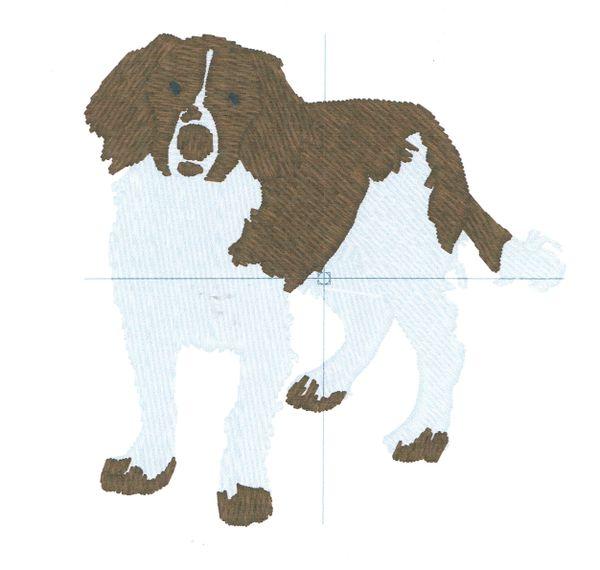 Springer Spaniel Embroidery Design