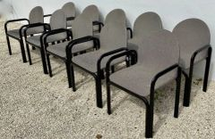 Set of Ten Dining Chairs by Gae Aulenti for Knoll International, Signed, 1975s