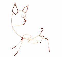 Frederick Weinberg Mid-Century Modern White & Red Iron Bambi Sculpture Planter