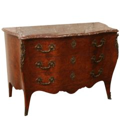 Antique Chest of Drawers With Verona Marble Top
