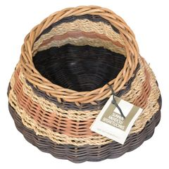 Boho Chic Handcrafted Woven Reed & Seagrass Nancy Basket by Paulette Lenney