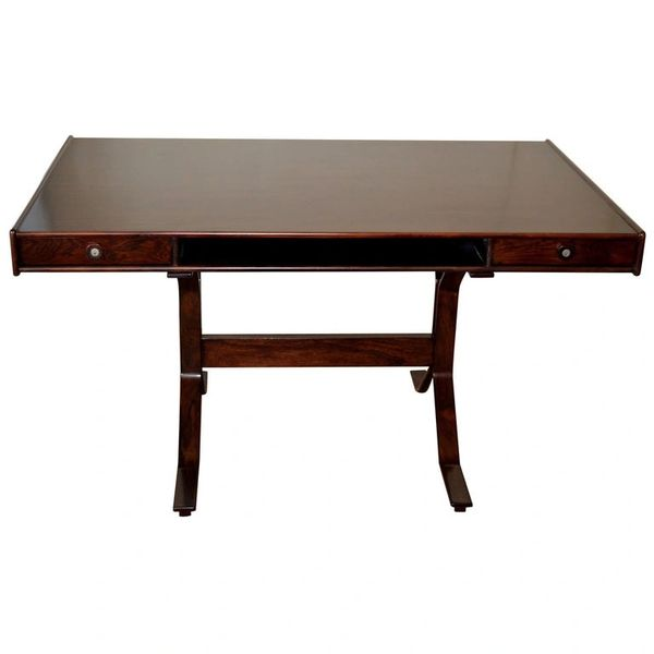Gianfranco Frattini Mid-Century Modern Rosewood Desk Writing Table Bernini Italy