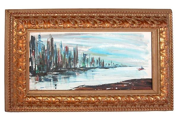 "Rod Rodgers ""East Side Skyline"" Oil Panting"