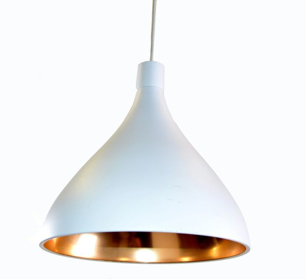 Pablo Designs Swell Pendant Light Fixture Off White & Brass Finish Pablo Studio
