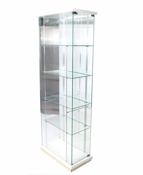 Italian Mid-Century Modern Wood & Glass Showcase, Display Cabinet, Storage Case