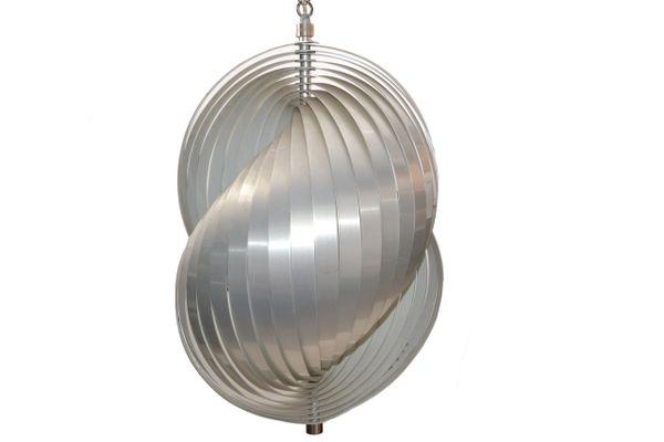 Henri Mathieu Aluminum Pendant Light Chandelier Mid-Century Modern France 1960s