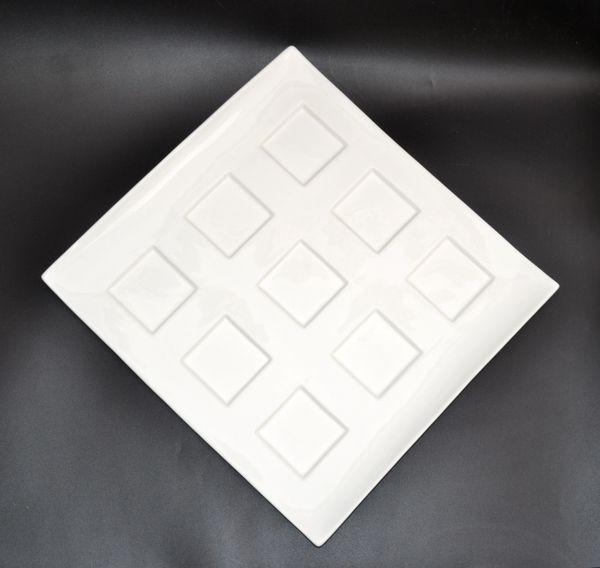Fortessa Forta Luxe Super White Ceramic Plate, Centerpiece, Dinnerware, Italy