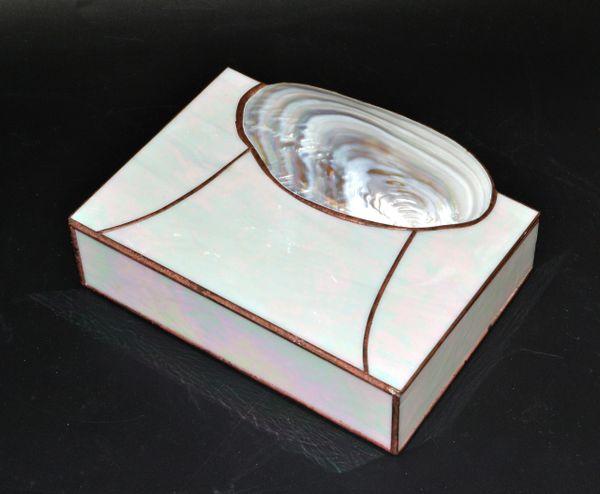 Mid-Century Modern Handmade Nautical Mother of Pearl & Seashell Decorative Box