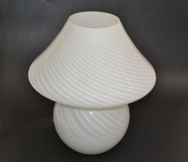 Venini Style Mid-Century Modern Blown Murano Glass Mushroom Table Lamp Italy