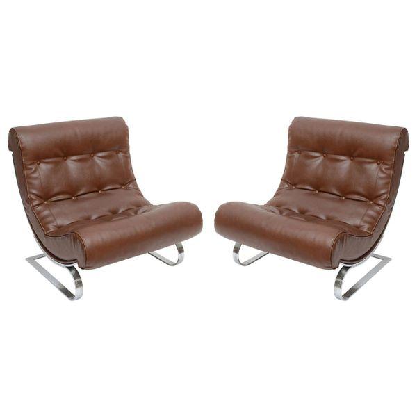 Italian Formanova Lounge Chairs, S/2