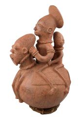 Hand-Made African Figural Waterjug