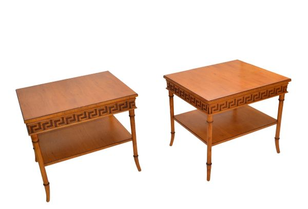 Tomlinson Furniture Mid-Century Modern Side, Bedside Tables Night Stands, Pair