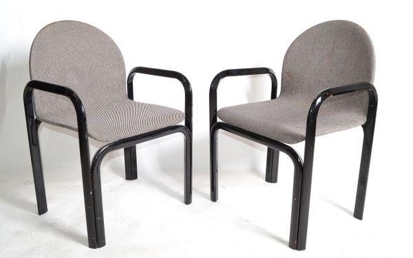 Gae Aulenti for Knoll International Armchairs Mid-Century Modern 1975 - Pair