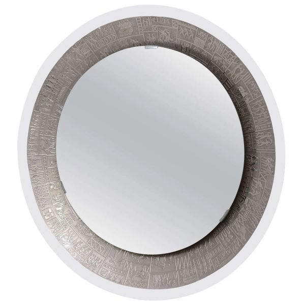 M. Furgieri Silverplated Back-lit Mirror, Italy 1960's