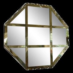 Italian Octagonal Cross Banded Mirror