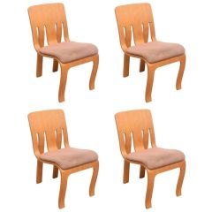 Thonet Bent Plywood Chairs - Set of 4