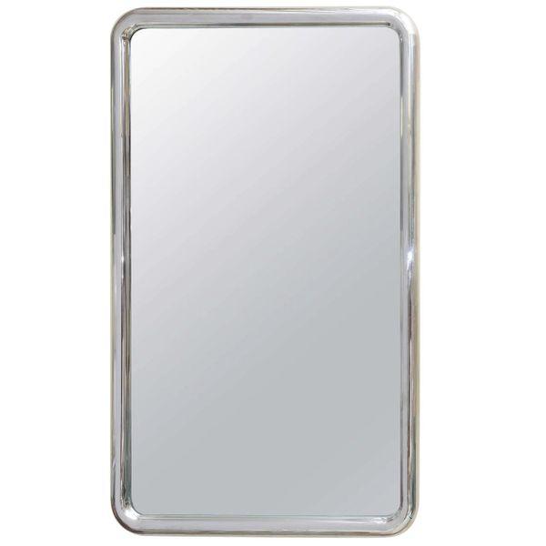 Modernist Steel Mirror