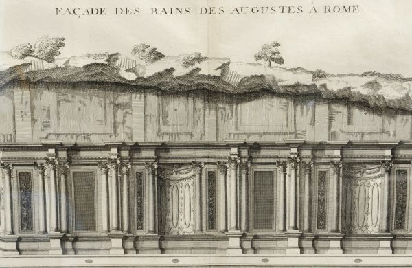 Engraving of Rome's Baths