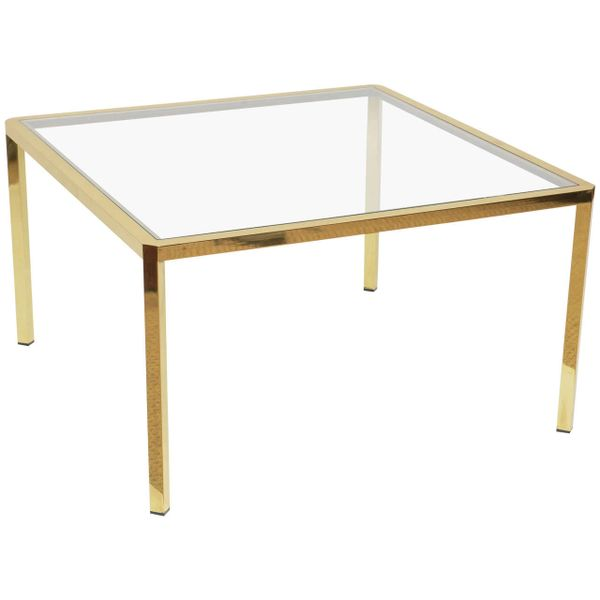 Square Brass Coffee Table from Italy