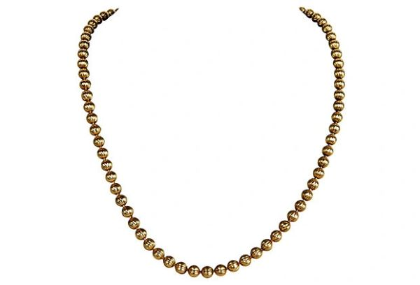 Gold-tone Beaded Necklace