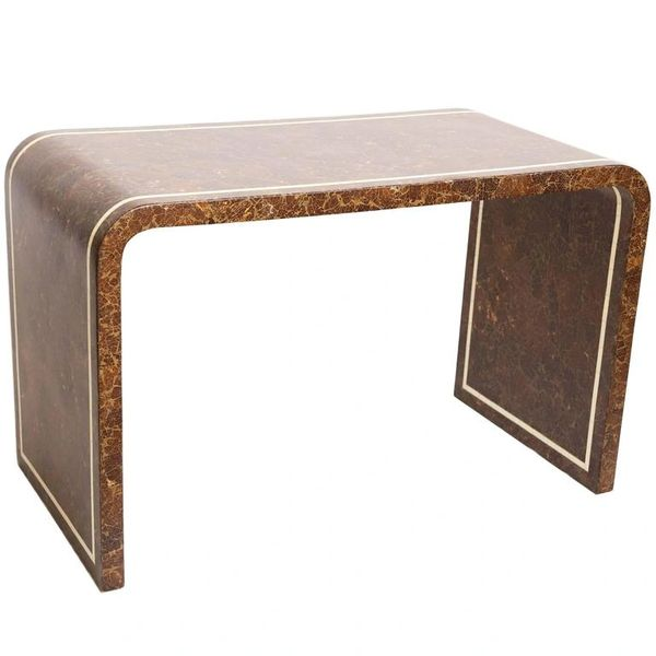Mid-Century Modern Coconut and Bone Desk
