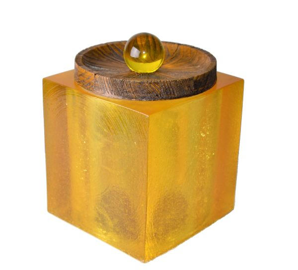 Solid Acrylic Ice Bucket Cork & Wood