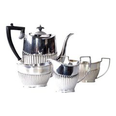 Antique Cheltenham Silver Coffee Service