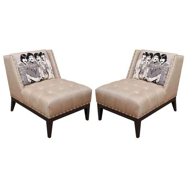 Beatles Club Chairs, Pair.